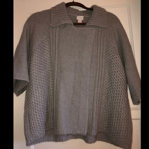 Chico's Gray Short Sleeve Sweater